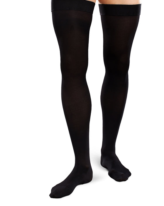 Therafirm Ease Opaque Mens Closed Toe Thigh High 15-20 mmHg