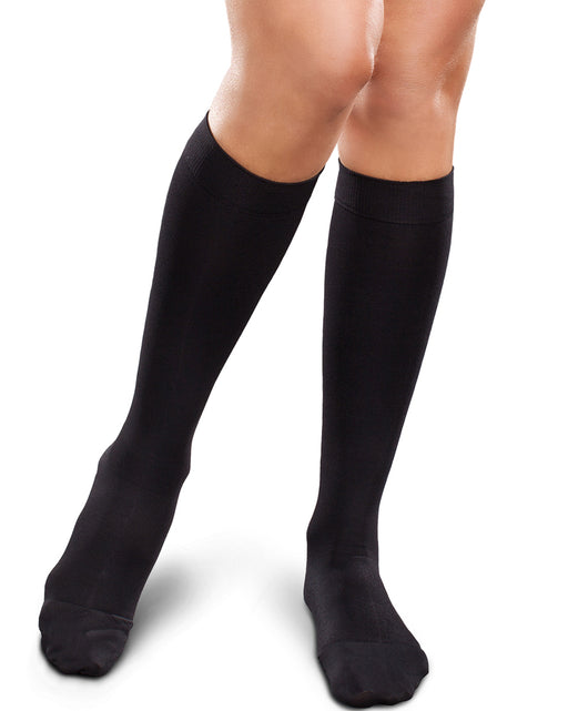 Therafirm Ease Opaque Women's Chevron Knee High 15-20 mmHg