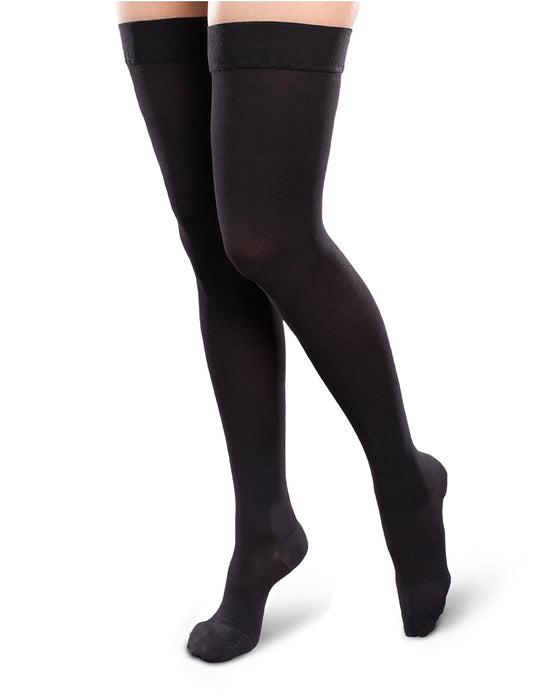 Therafirm Ease Opaque Women's Closed Toe Thigh High 15-20 mmHg