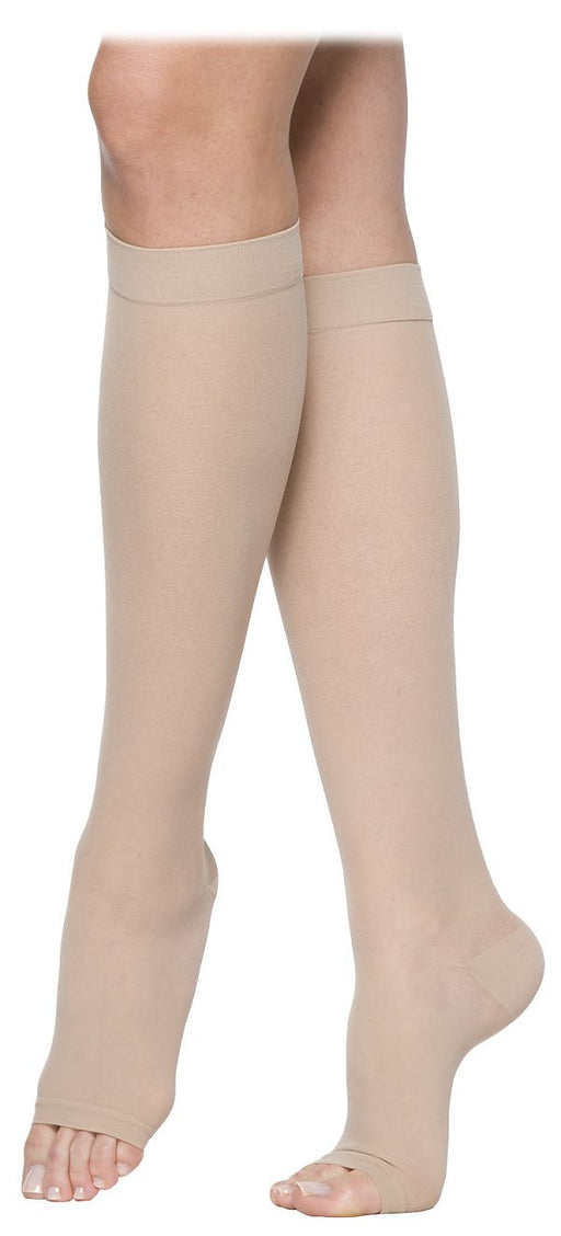 Sigvaris 770 Truly Transparent 20-30 mmHg Women's OPEN TOE Knee Highs - 772C