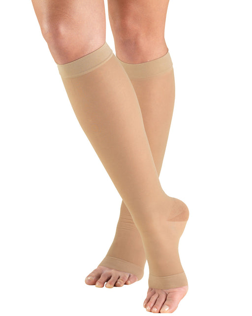 TRUFORM Opaque Knee High Open Toe 15-20