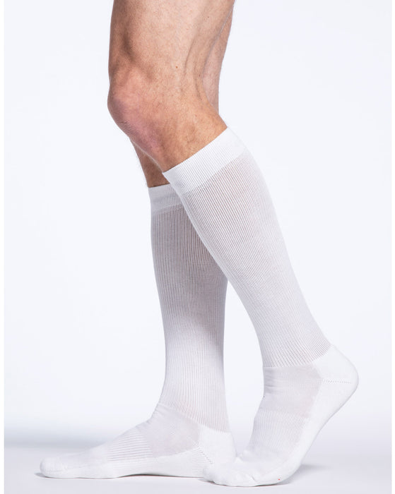 Sigvaris 230 Cotton Series Men's Closed Toe Knee Highs 20-30 mmHg - 232C