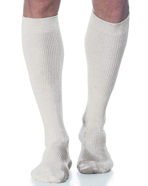 Sigvaris 186C Casual Cotton Closed Toe Men's Knee Highs 15-20mmHg