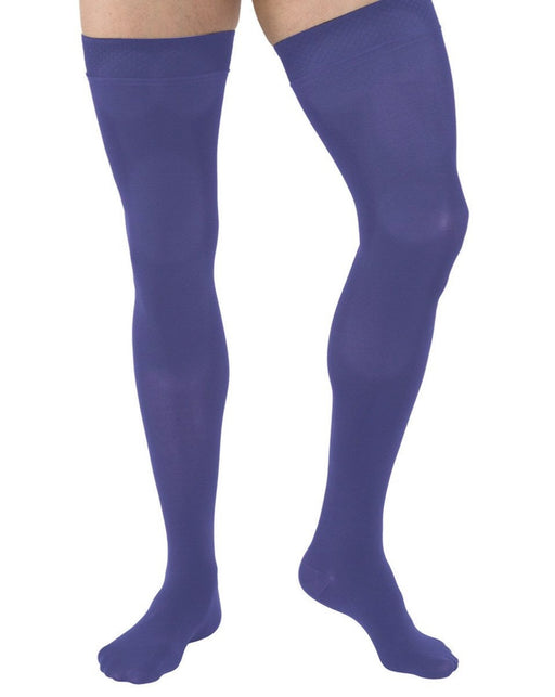 Juzo Hostess 2501 Closed Toe Thigh Highs w/ Silicone Top Band 20-30 mmHg