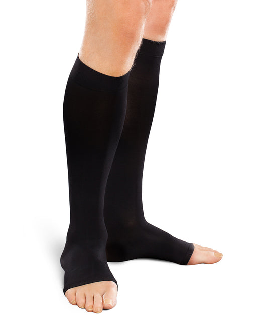Therafirm Ease Opaque Unisex OPEN TOE Knee High 20-30 mmHg