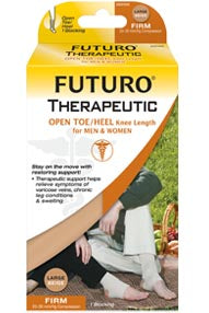 Futuro Therapeutic Open Toe/Open Heel Knee High 20-30 mmHg, Single Leg