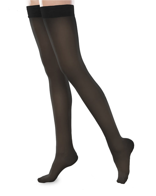 Therafirm Sheer Ease Women's Closed Toe Thigh High Stockings 30-40mmHg