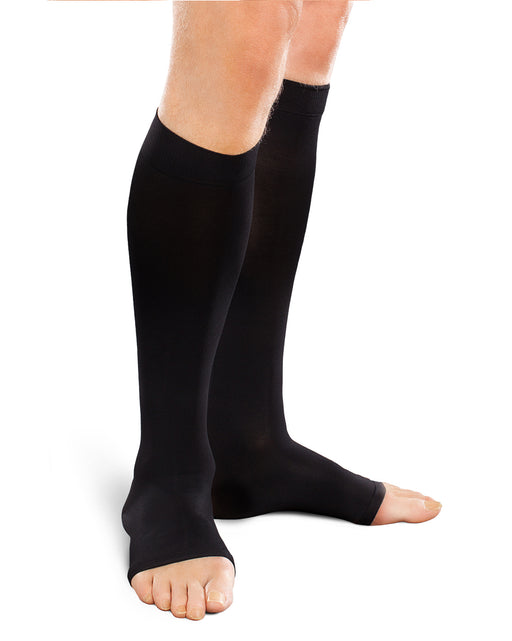 Therafirm Ease Opaque Unisex Open Toe Knee High 30-40 mmHg