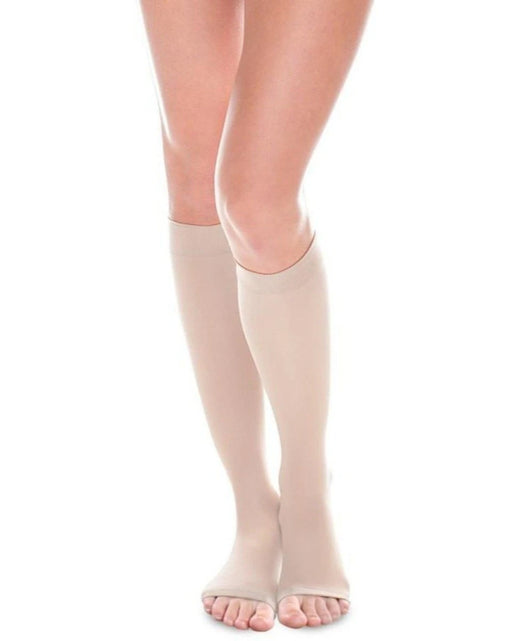 Therafirm Sheer Ease Women's OPEN TOE  Knee High Stockings 20-30mmHg