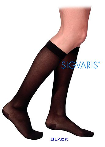 Sigvaris 770 Truly Transparent 20-30 mmHg Womens Closed Toe Knee Hi 772C