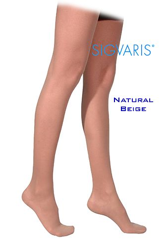 Sigvaris 770 Truly Transparent 20-30 mmHg Women's Closed Toe Thigh High 772N