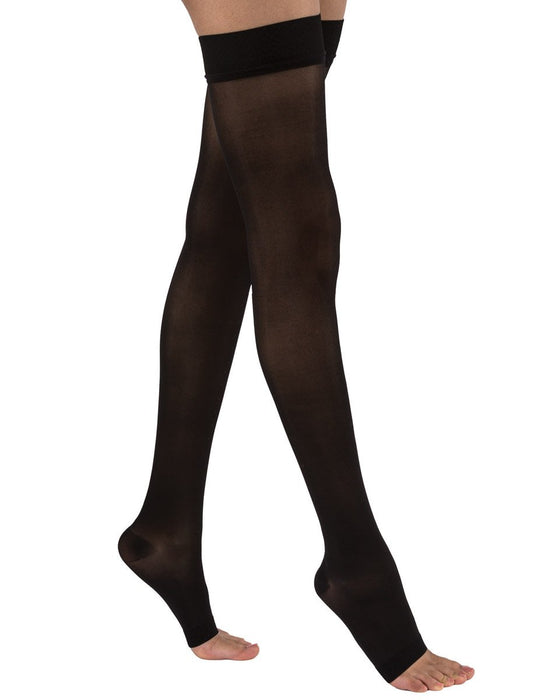 Juzo Soft 2001 Thigh Highs w/ Beaded Silicone Top Band 20-30 mmHg