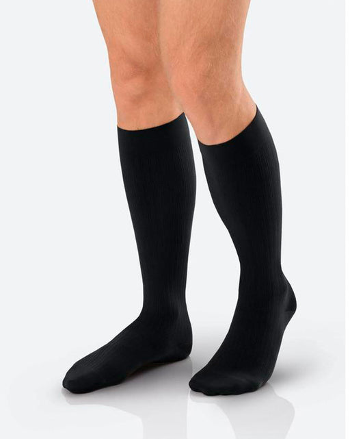Jobst for Men Ambition Knee High Ribbed Compression Socks 30-40 mmHg