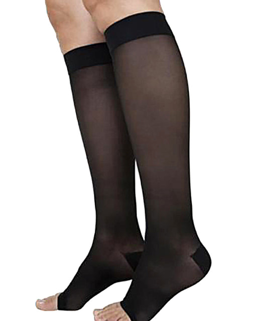 Sigvaris 860 Select Comfort Series Open Toe Unisex Knee Highs 20-30 mmHg - 862C