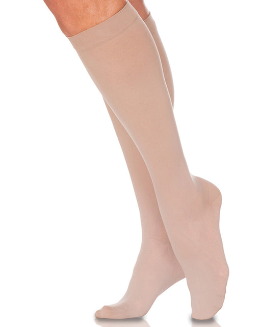 Sigvaris 550 Secure Women's Closed Toe Knee High 30-40 mmHg w/ Silicone Band - 553C