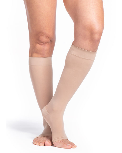 Sigvaris 780 EverSheer Women's Open Toe Knee Highs 20-30 mmHg - 782C