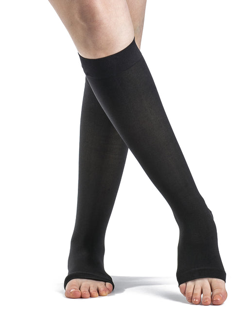 Sigvaris 841C Soft Opaque Open Toe Knee Highs 15-20 mmHg