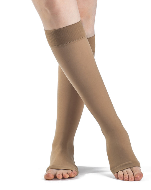 Sigvaris 860 Select Comfort OPEN TOE Knee Hihgs w/Silicone Grip Top Band 20-30 mmHg - 862C