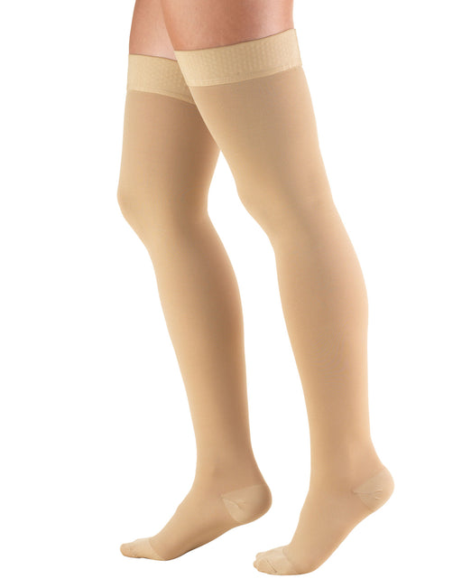 TRUFORM Classic Medical Closed Toe Thigh High Silicone Dot Stay-up Top 30-40 mmHg