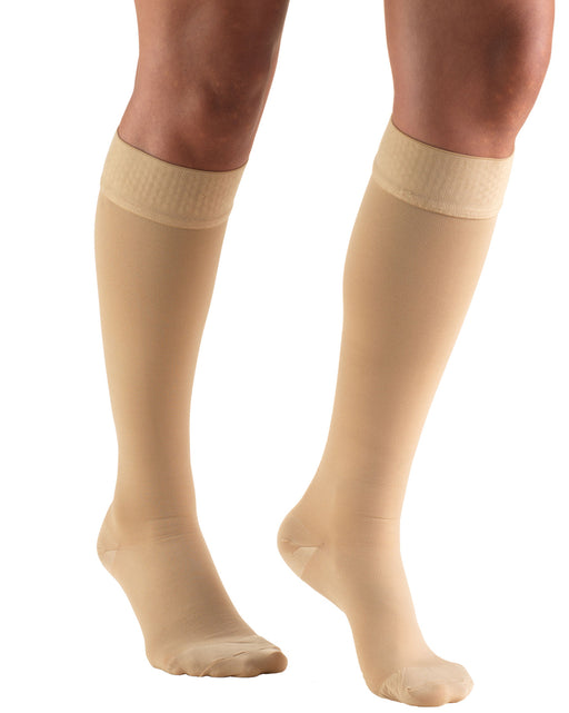 Truform Classic Medical Closed Toe Knee Highs Silicone Dot Top 20-30 mmHg