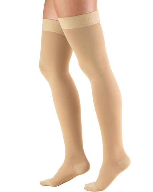 TRUFORM Classic Medical CLOSED TOE Thigh Highs Silicone Dot Top 20-30 mmHg