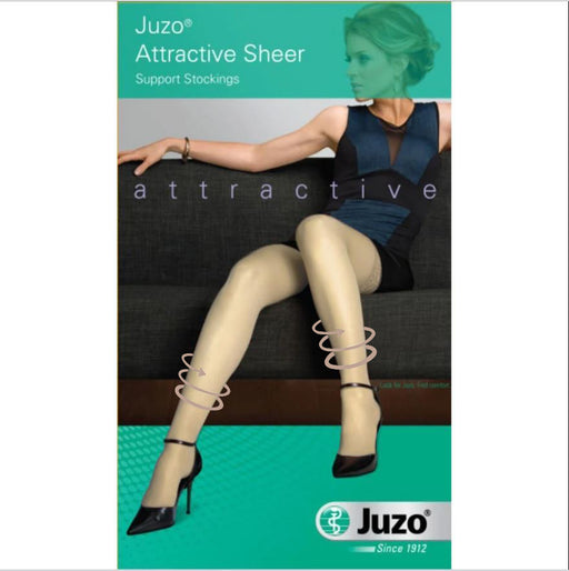 Juzo Attractive Women's 10-15 mmHg Thigh High w/ Silicone Top Band