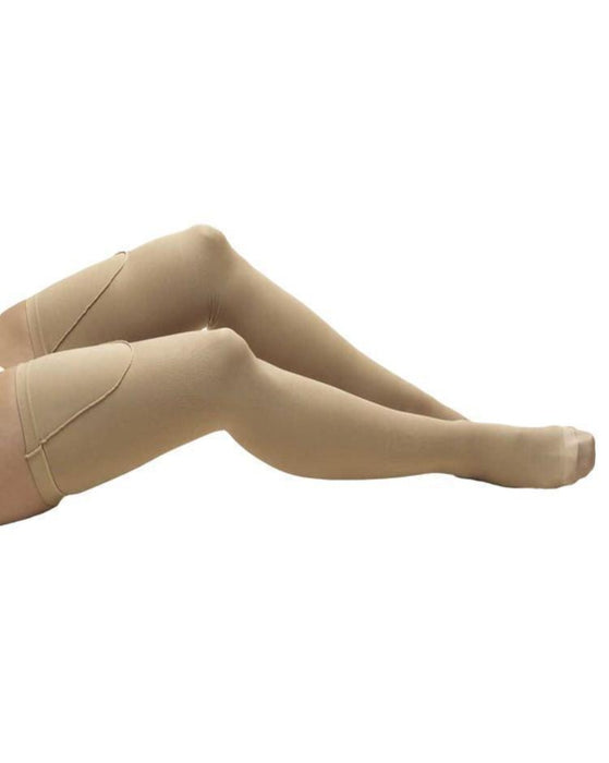 TRUFORM Anti-Embolism Closed Toe Thigh High Support Stockings 18 mmHg