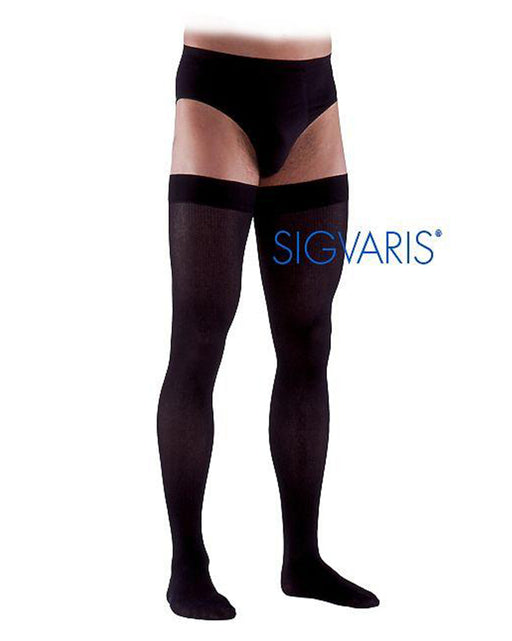 Sigvaris 860 Select Comfort 30-40 mmHg Men's Closed Toe Thigh High 863N