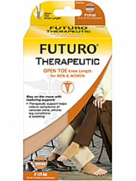 Futuro Therapeutic Open Toe Knee Highs Firm 20-30 mmHg