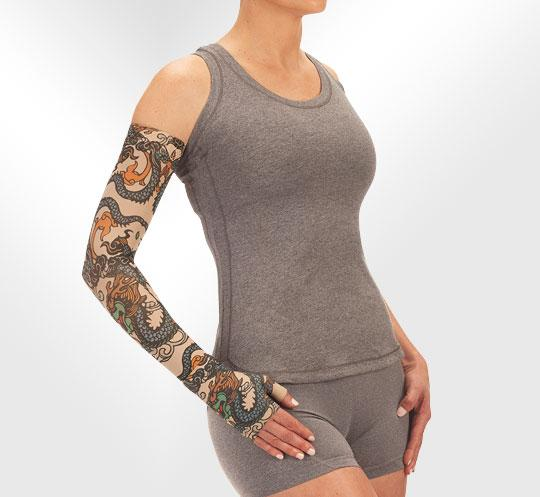 Juzo Soft 2002CG Print Series Armsleeves 30-40mmHg w/ Silicone Top Band - New Patterns
