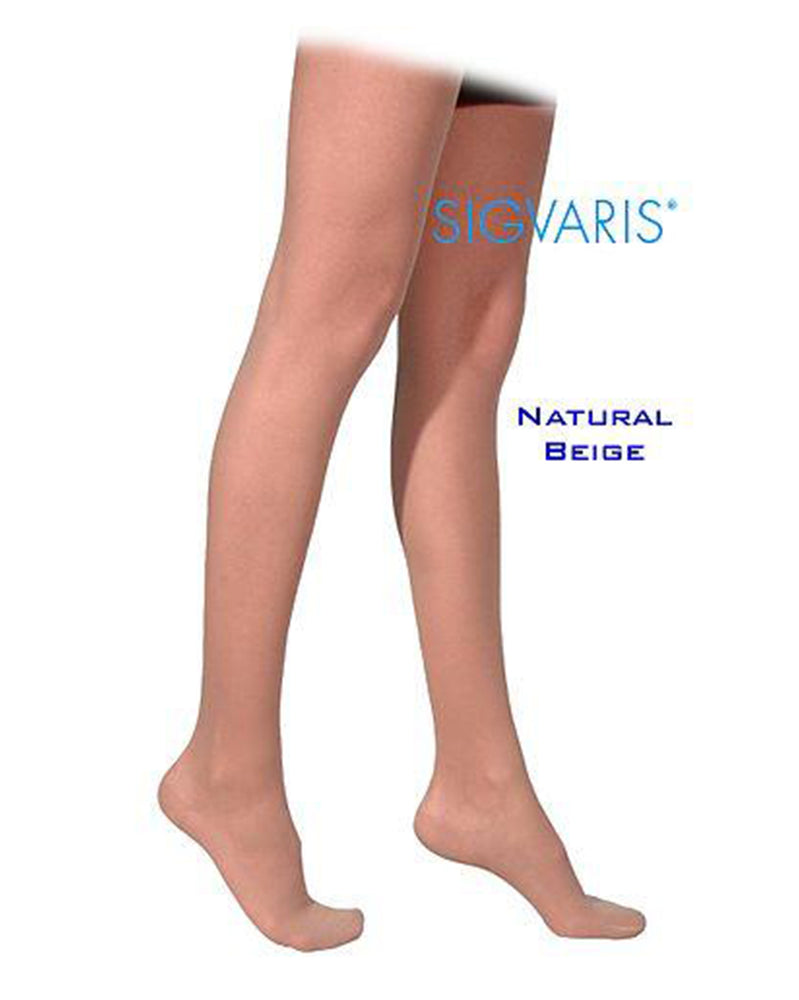 Sigvaris 770 Truly Transparent 30-40 mmHg Women's closed toe thigh highs 773N