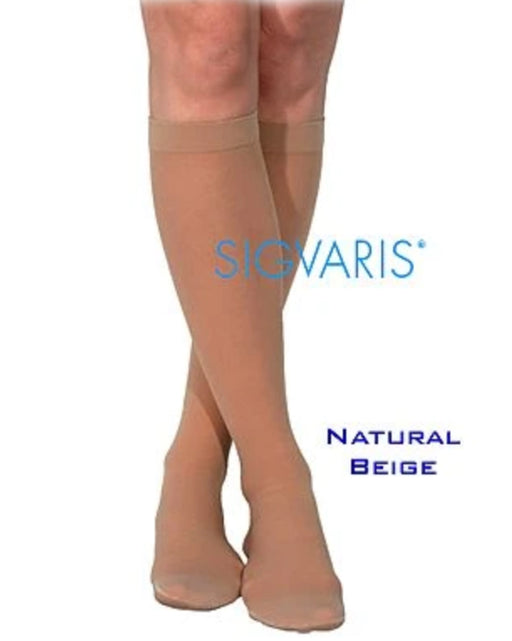 Sigvaris 770 Truly Transparent 30-40 mmhg Womens Closed Toe Knee High 773C