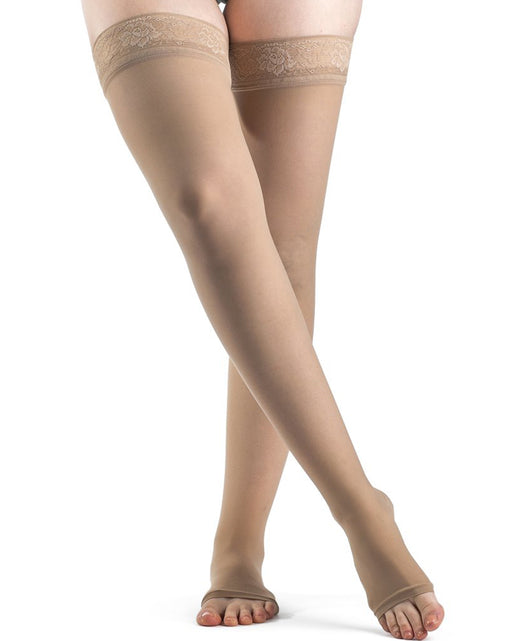Sigvaris 780 EverSheer Women's OPEN TOE Thigh Highs 15-20 mmHg - 781N