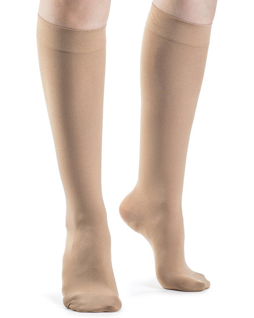 Sigvaris 841C Soft Opaque Closed Toe Knee Highs 15-20 mmHg