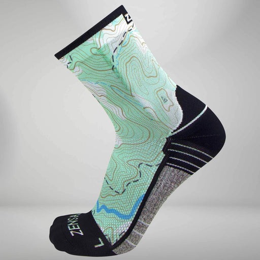Zensah Topography Socks (Mini Crew) - 8300-Z175-104