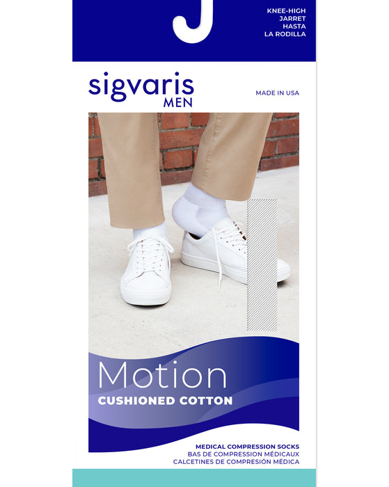 Sigvaris 360 Cushioned Cotton Men's Closed Toe Knee High 20-30 mmHg - 362C
