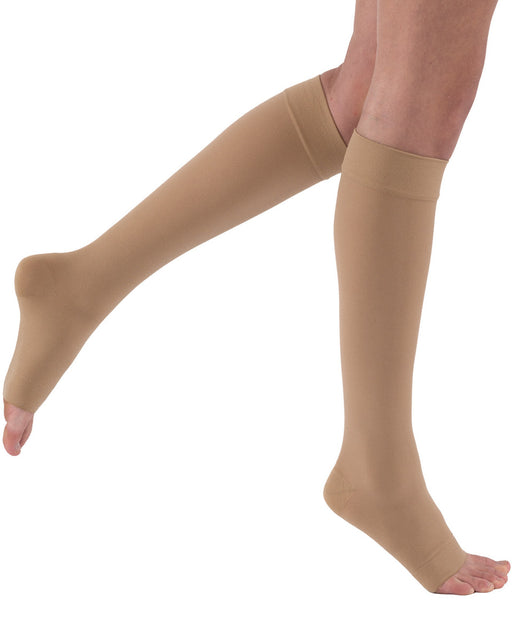 Juzo 3512 AD Varin Unisex Open Toe Knee Highs w/ Silicone Top Band 30-40 mmHg