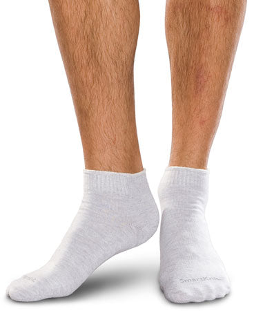 Therafirm SmartKnit Seamless Diabetic Mini-Crew Socks w/ X-Static Silver Fibers
