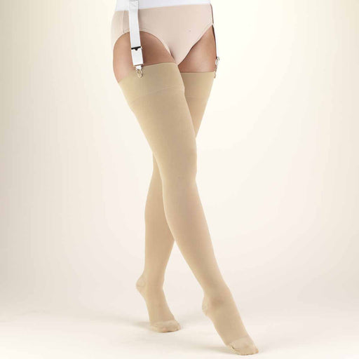 SECOND SKIN Surgical Grade Closed Toe 20-30 mmHg Thigh High Stockings