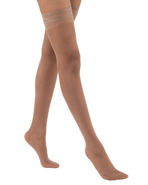 Activa Ultra Sheer Women's Lace Top Thigh Highs 9-12 mmHg