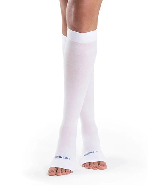 Sigvaris 932C Anti-Embolism Open Toe Knee High 18-23mmHg
