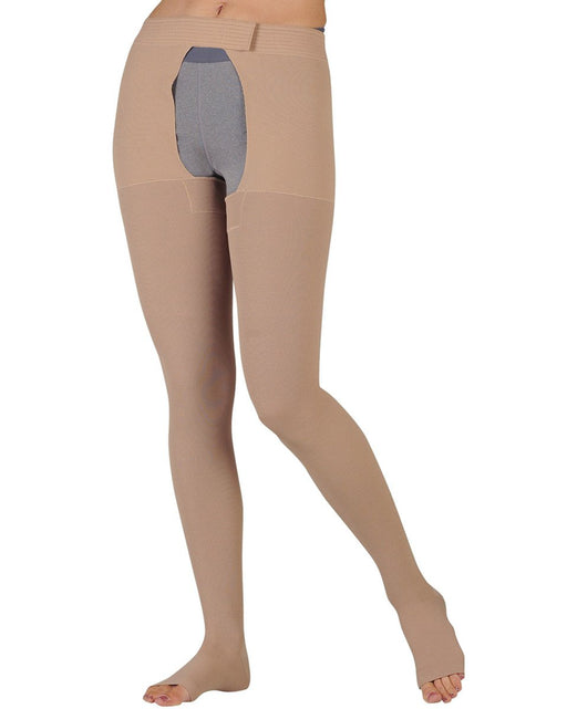Juzo Dynamic OPEN TOE Pantyhose w/ Open Crotch 40-50 mmHg