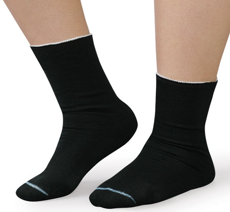 Therafirm SmartKnit Seamless Diabetic WIDE Crew Socks