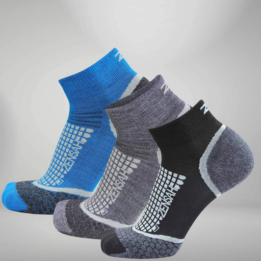 Zensah Grit Running Socks (Quarter) - 8564
