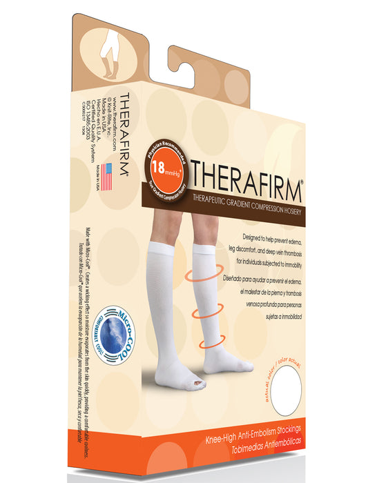 Therafirm Unisex Anti-Embolism Knee High Stockings 18 mmHg