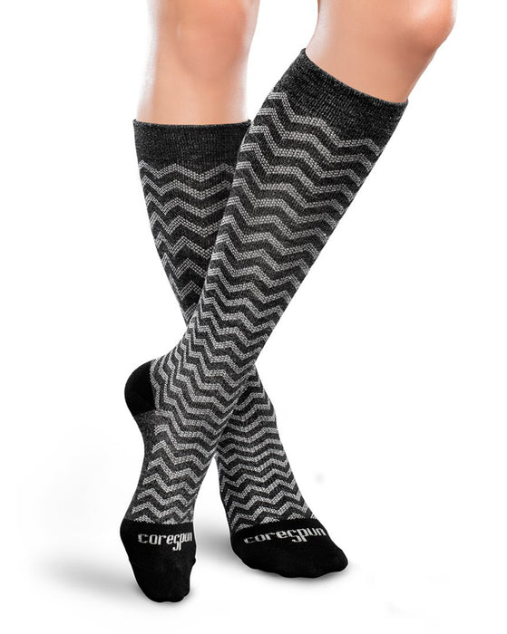 Therafirm Patterned Core-Spun Argyle Socks for Men & Women 15-20mmHg