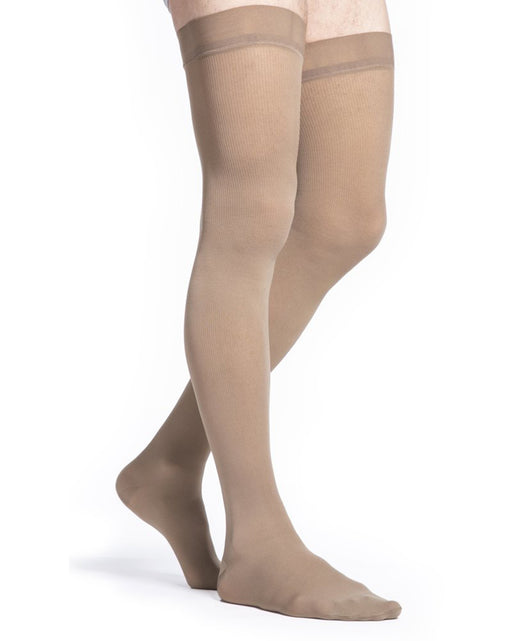 Sigvaris Midtown Microfiber Men's Closed Toe Thigh Highs 20-30 mmHg - 822N