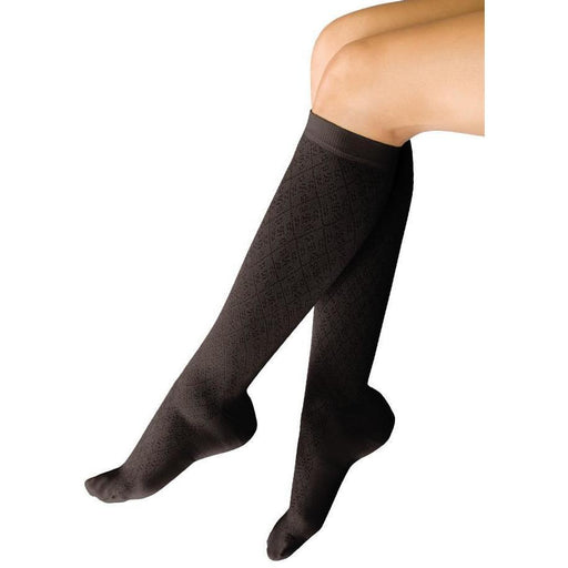 Therafirm Light Women's 10-15 mmHg Diamond Patterned Knee High