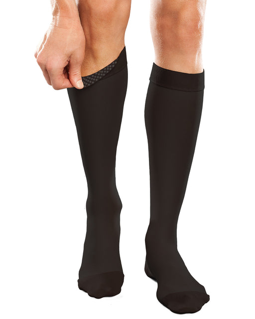 Therafirm Ease Opaque Unisex Closed Toe Knee High w/ Silicone Dot Top Band 30-40 mmHg