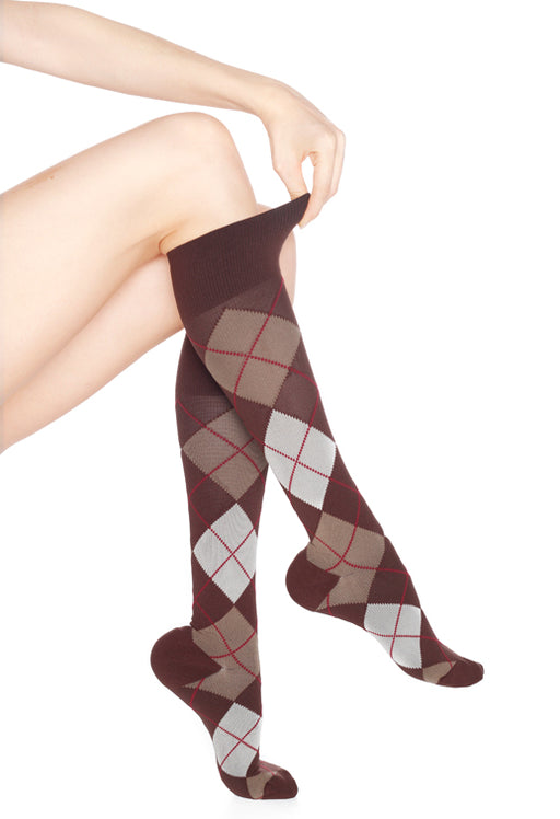 Rejuvahealth Argyle 15-20mmHg Compression Knee Highs